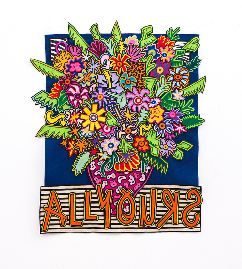 Jody Paulsen | All Yours | 2018 | Felt Collage | 120 x 89 cm