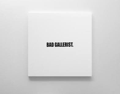 Ed Young | BAD GALLERIST. | 2017 | Oil on Canvas | 100 x 100 cm