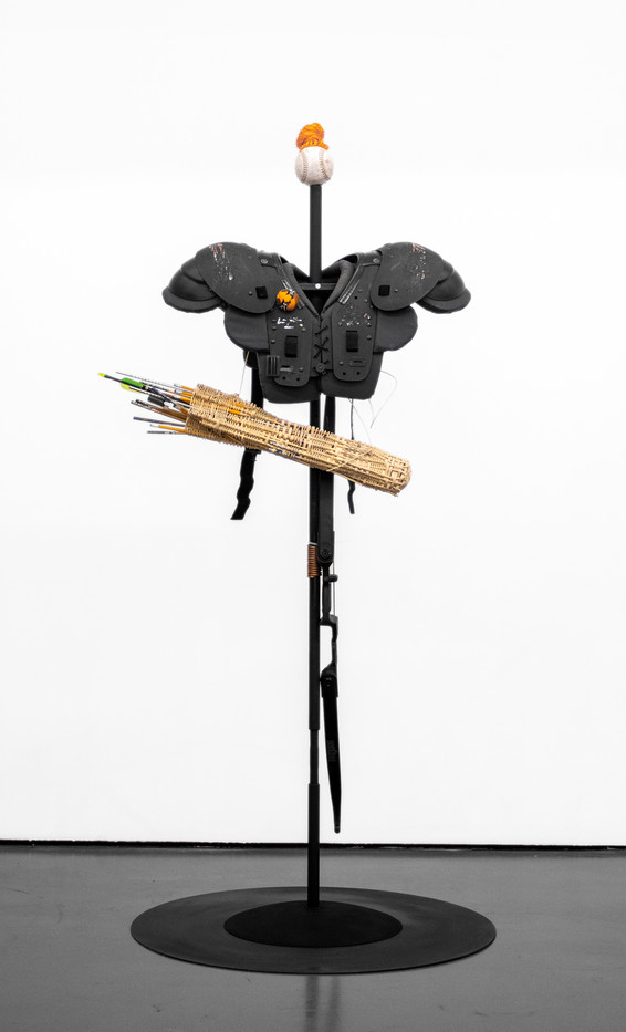 Masimba Hwati   Sokunge 7   2019   Steel Pipe, Copper Tubing and Found Objects   186 x 85 x 85 cm