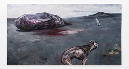 Johann Louw   Seltsam im nebel   2019   Oil on Canvas   195 x 365 cm