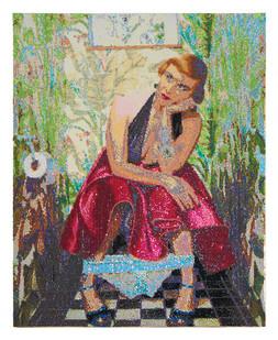 Frances Goodman | Private Dancer | 2018 | Hand-Stitched Sequins on Canvas | 160 x 126 cm