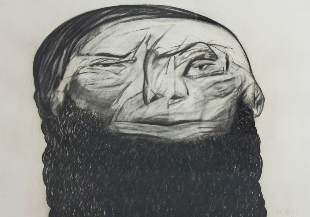 Paul Stopforth | The Wise Young Indian | 1989 | Charcoal on Paper | 68 x 99 cm