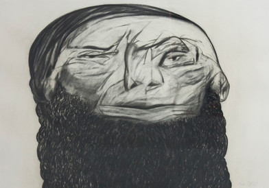 Paul Stopforth   The Wise Young Indian   1989   Charcoal on Paper   68 x 99 cm