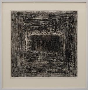 Kevin Atkinson | Mindbody | 1974 | Etching | 50.5 x 50.5 cm