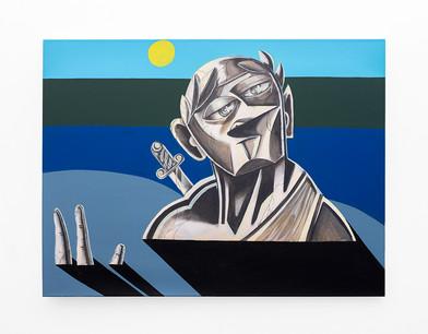 Callan Grecia | A Percy Shelly Poem For Rome | 2021 | Acrylic on Canvas | 91.5 x 122 cm