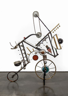 Cyrus Kabiru | African Silo | 2017 | Steel and Found Objects | 215 x 200 x 55 cm