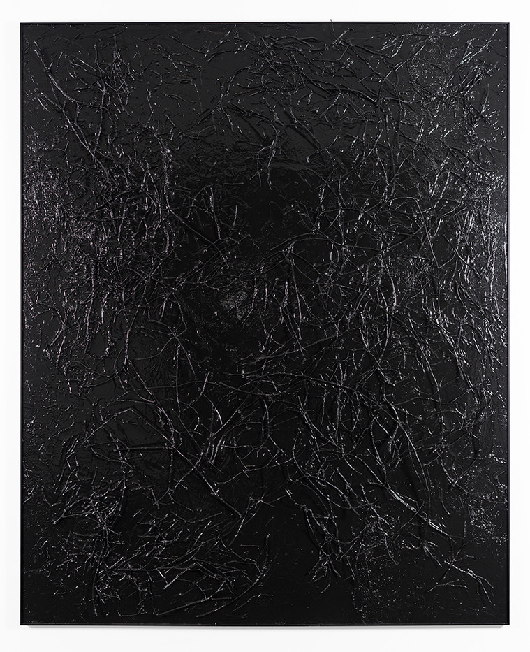 Peter Eastman   Enon Riverbed IV   2019   Enamel, Ironwood and Candlewood on Aluminium   185 x 150 x 19.5 cm