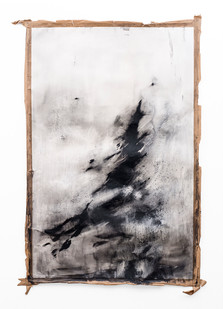 Alexandra Karakashian | Untitled | 2019 | Oil on Sized Paper | 201 x 134 cm