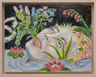Marlene Steyn   When I vase   2018   Oil on Canvas Board   23 x 30 cm