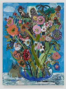 Georgina Gratrix | Boogie Woogie Weep Weep Bouquet | 2014 | Oil on Canvas | 160 x 120 cm