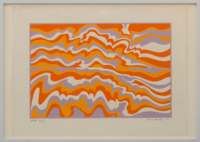 Kevin Atkinson | Screenprint for Hotel Comission (2) | 1971 | Serigraph on Paper | 56 x 76 cm