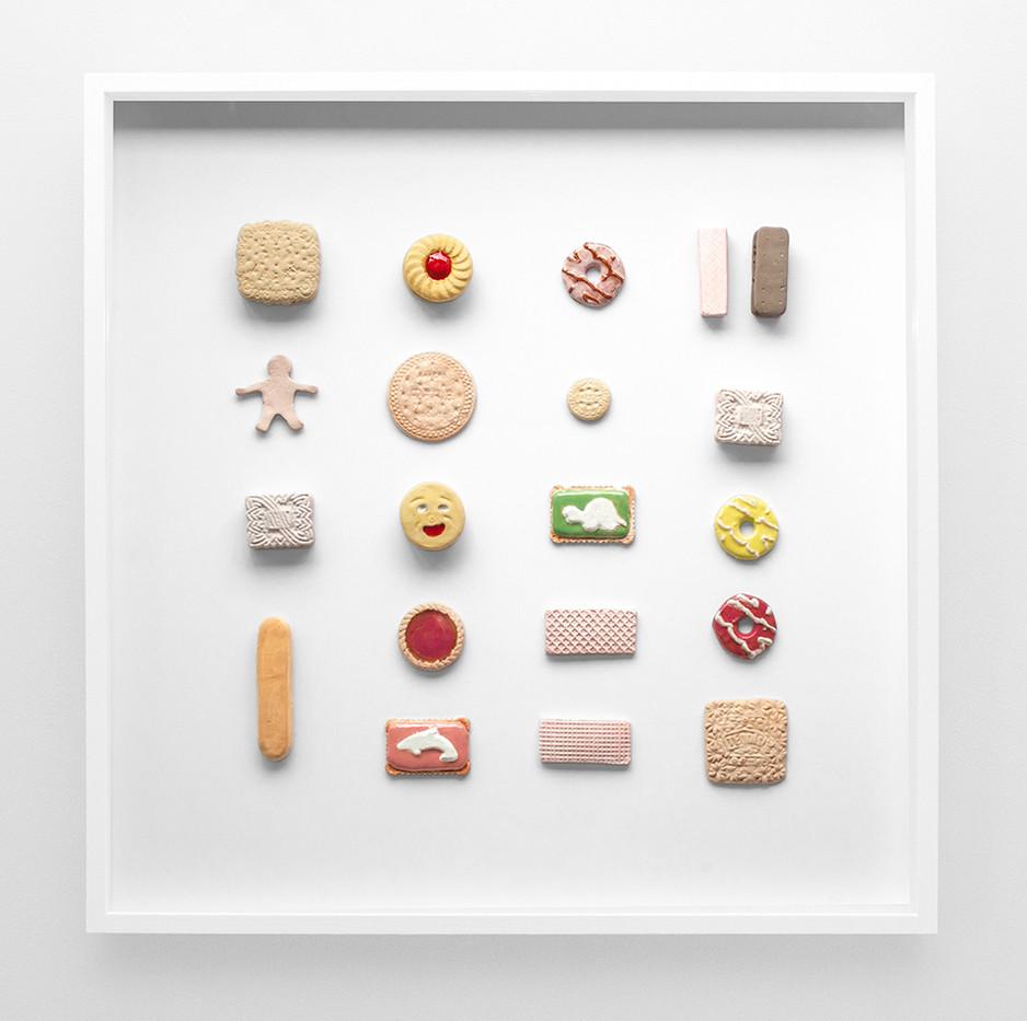 Geena Wilkinson   Biscuits IV   2019   Ceramic   58 x 58 cm