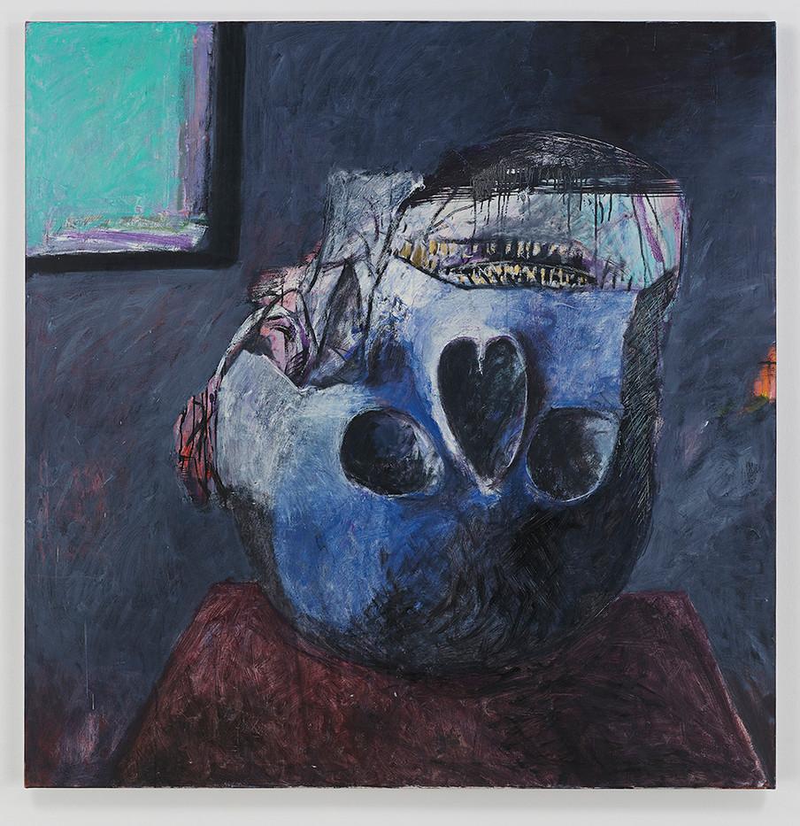 Albert Adams | Celebration Head | 2002 | Oil on Canvas | 153 x 150 cm