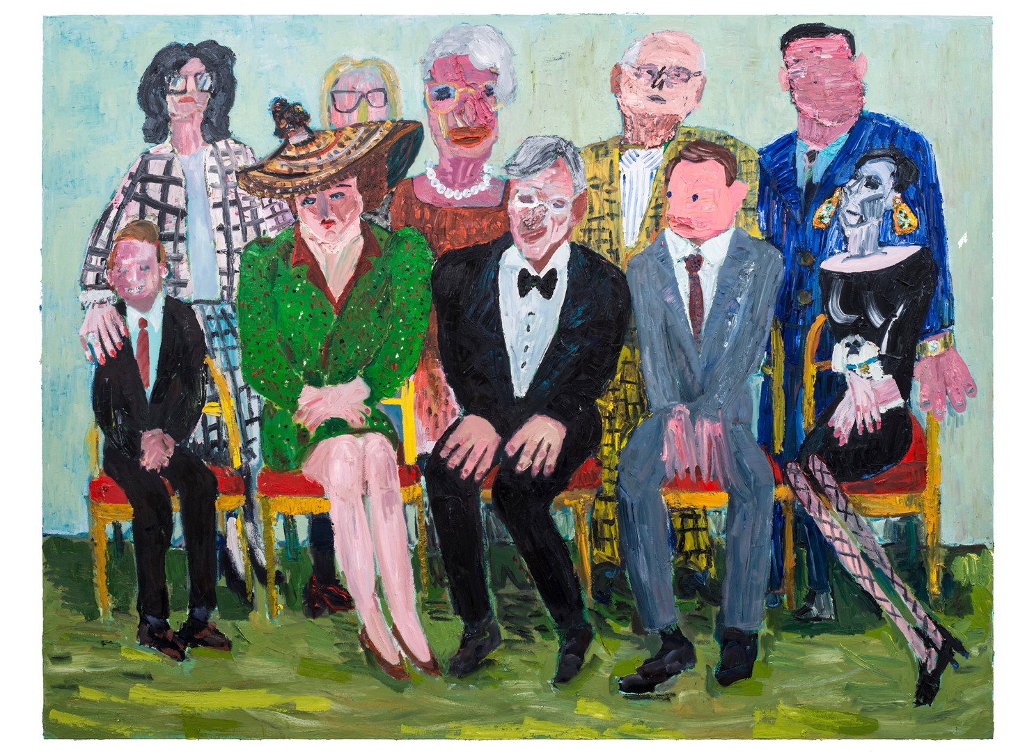 Georgina Gratrix | The Appraisers | 2018 | Oil on Canvas | 190 x 250 cm