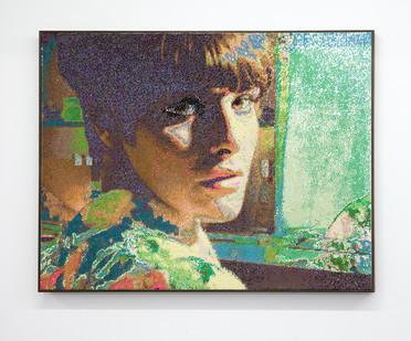 Frances Goodman | Caught I | 2017 | Hand-Stiched Sequins on Canvas | 127 x 167 cm