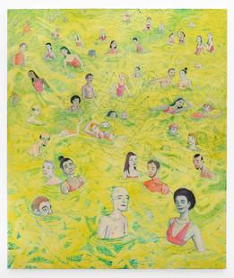 Marlene Steyn | below tide be low tied | 2019 | Oil on Canvas | 200 x 170 cm