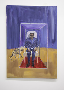 Themba Shibase | Uncle Bob Meditating – In Peace | 2017 | Oil on Canvas | 120 x 80 cm