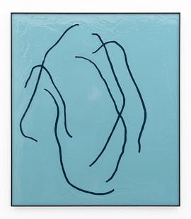 Peter Eastman | Form III | 2019 | Enamel Paint on Aluminium | 97.5 x 85 cm