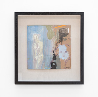 Simon Stone | Daytime Nude | 2017 | Oil on Cardboard | 28.5 x 28.5 cm