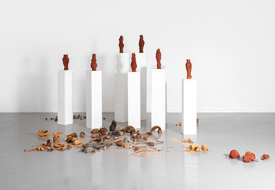 Belinda Blignaut | The Call From Things (1 - 8) | 2020 | Found and Fired Organic Matter and Clay | Dimensions Variable | Sound: hashtag_blacknoise