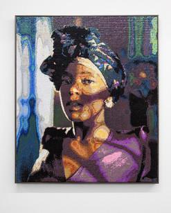 Frances Goodman | Secret Thoughts | 2017 | Hand-Stitched Sequins on Canvas | 153 x 130.5 cm