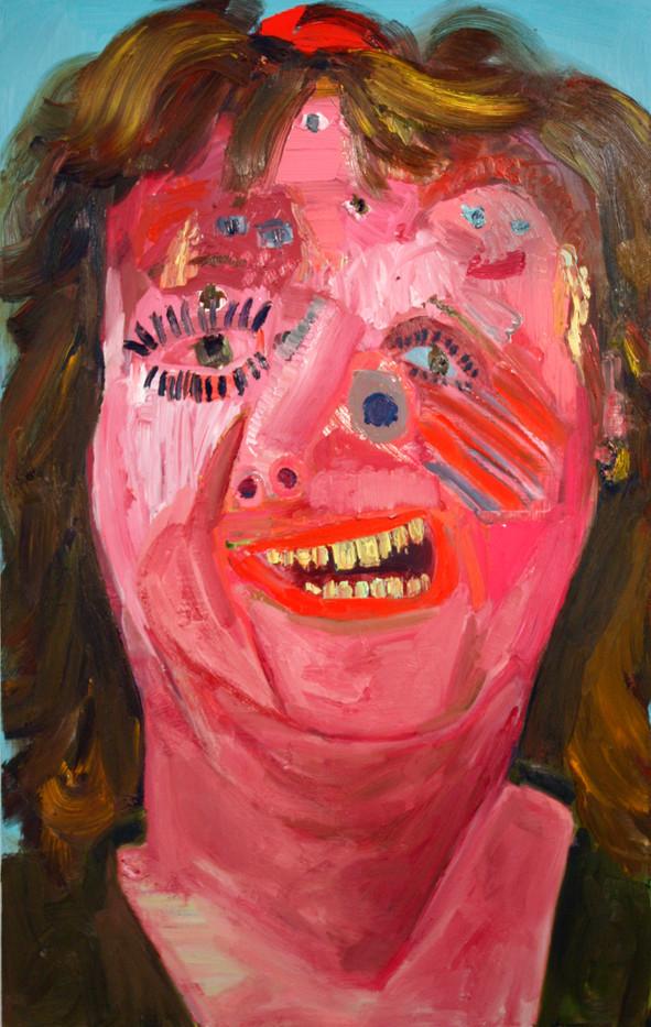 Georgina Gratrix   Peggy Lou Party Face   2012   Oil on Board   120 x 100 cm