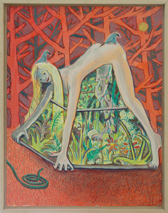 Marlene Steyn | How to be an incubator | 2018 | Oil on Canvas Board | 45 x 35 cm