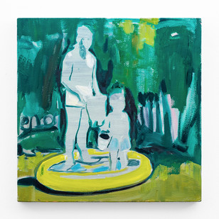 Kate Gottgens | Paddling Pool | 2018 | Oil on Canvas | 50 x 51 cm