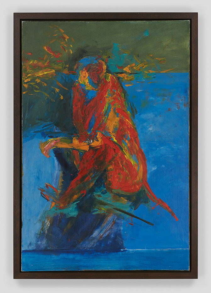 Albert Adams | Red Monkey Seated | 1972 | Oil on Canvas | 183 x 122 cm
