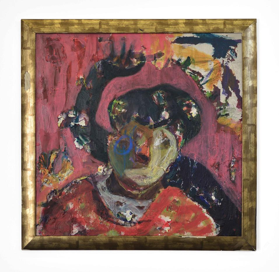 Mostaff Muchawaya | Self-Portrait | 2017 | Acrylic on Canvas | 99.5 x 98.5 cm