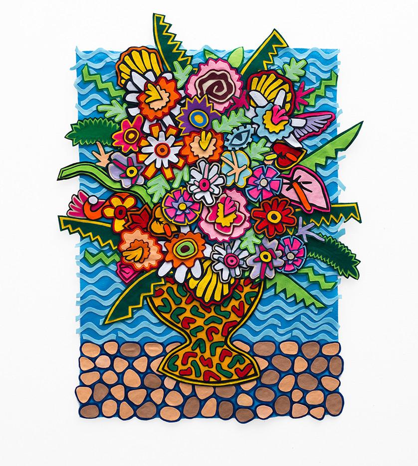 Jody Paulsen | Something About Jamaica | 2018 | Felt Collage | 124 x 121 cm