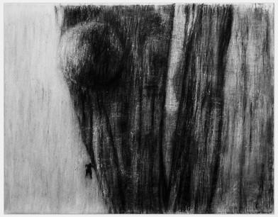 Johann Louw | Tarkovsky-balonne II | 2014 | Charcoal and White Conté on Paper | 125 x 160 cm