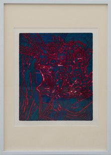 Kevin Atkinson | Abstract Composition (Colour) | c. 1965 | Etching | 35 x 29.5 cm
