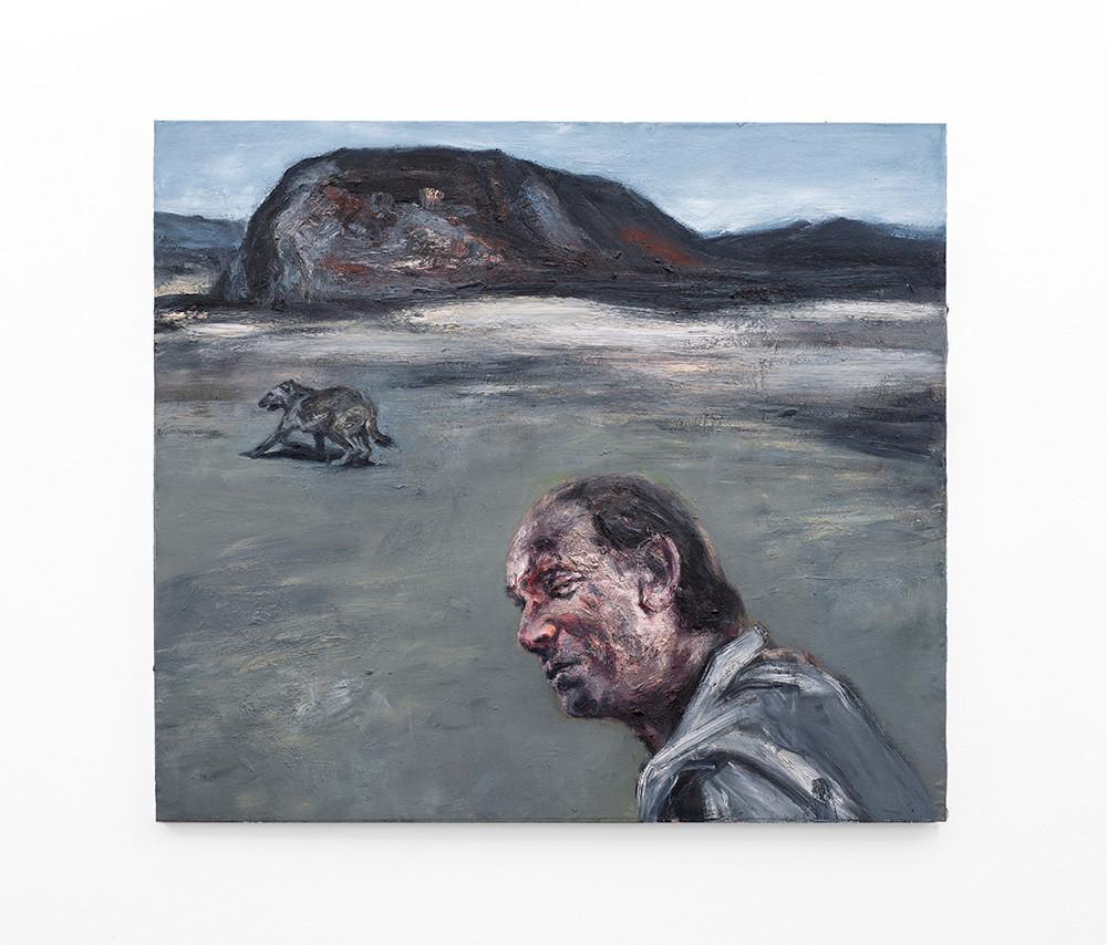Johann Louw | Russiese storie in die Groot Karoo, met hond | 2020 | Oil on Canvas | 122 x 137 cm
