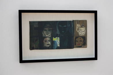 Simon Stone   Near the Back Door   2014   Oil on Cardboard   23.5 x 47 cm