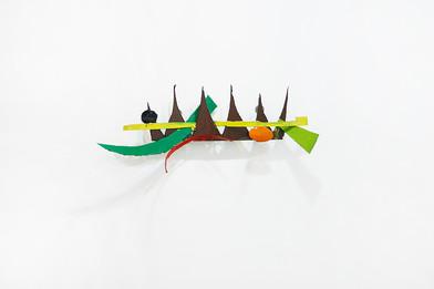 Barend de Wet | Object made to look like art X | 2012 | Enamel Paint on Steel | 37 x 85 x 23 cm