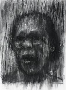 Johann Louw | Portret | 2013 | Charcoal on Paper | 100 x 70 cm