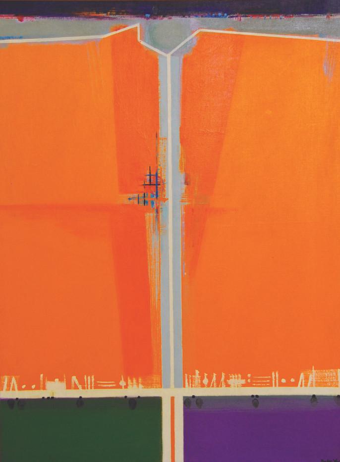 Hannatjie Van Der Wat | Summer Pastorale I | 1967 | Oil on Canvas | 101 x 76 cm