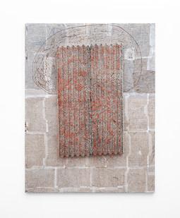Wallen Mapondera   Nhodzerwa II   2020   Egg Trays, Thread and Wax Paper on Board   160 x 122.5 x 9 cm