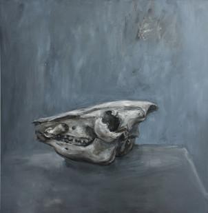 Johann Louw | Skedel II | 2011 | Oil on Plywood | 120 x 120 cm