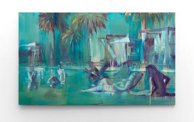 Kate Gottgens | Bromide Beach | 2016 | Oil on Canvas | 130 x 220.5 cm