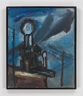 Albert Adams | Mosque | 1959 | Oil on Canvas | 76.2 x 63.5 cm