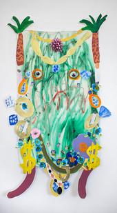 Georgina Gratrix | Lady of the Net | 2016 | Oil on Paper | 108 x 67 cm