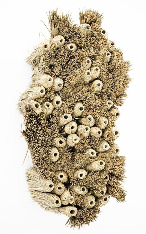 Usha Seejarim   Home 3   2018   Grass Brooms and Wire   130 x 69 x 54 cm