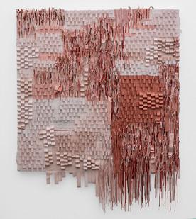 Gabrielle Kruger | Enlaced | 2019 | Acrylic Paint Extending a Board | 170 x 130 x 10 cm