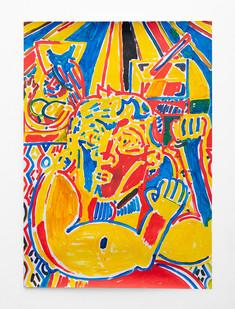 Callan Grecia   Strong Man 2   2021   Acrylic on Bristol   84 x 59.9 cm