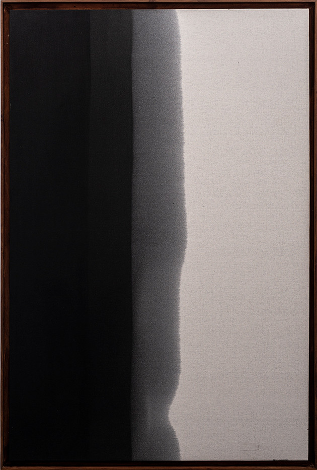 Alexandra Karakashian | Passing Through I | 2019 | Used Motor Oil on Canvas, Primed on Reverse | 150 x 100 cm