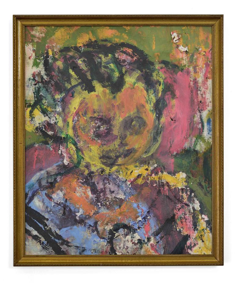 Mostaff Muchawaya | Untitled | 2017 | Acrylic on Canvas | 87 x 70 cm