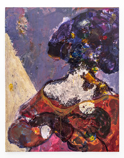 Mostaff Muchuwaya   Untitled   2019   Acrylic and Glue on Canvas   130.5 x 103 cm