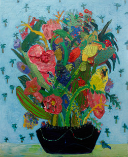 Georgina Gratrix | Flowers for me and you | 2012 | Oil on Canvas | 167 x 155 cm